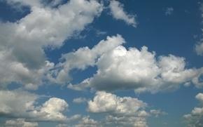 Картинка облака, синева, Небо, даль, лазурь
