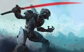 Картинка sword, robot, cyborg