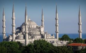 Картинка Istanbul, Turkey, Mosque, Sultanahnmet