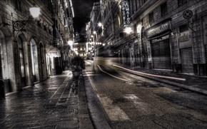 Картинка ночь, улица, фонари