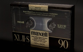 Картинка макро, maxell, кассета, фон, музыка