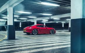 Картинка Porsche, Cayman, парковка, GTS