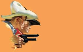 Обои дикий запад, револьвер, cowboy, стетсон, The Wild West