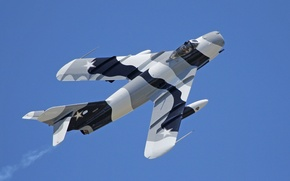 Обои полет, истребитель, реактивный, советский, МиГ-17F