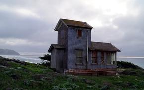 Картинка USA, house, grass, United States, nature, America, cabin, Northern California, United States of America, hut, …