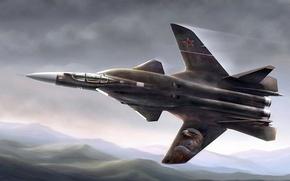 Картинка истребитель, su-47 berkut, aircraft jet
