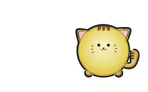 Картинка кошка, арт, детская