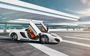 Картинка Sky, Gemballa, Front, White, Spider, Supercar, GmbH
