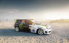 Обои Impreza, авто, Subaru, песок