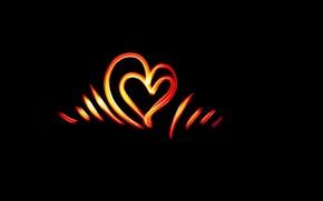 Картинка свет, линии, сердце