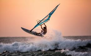 Картинка море, спорт, winsurfing
