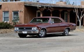 Обои 1966, chevrolet, chevelle, ss 396, hardtop, coupe, шевроле
