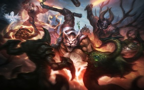 Обои dota 2, Doom, Lucifer, Mangix, Brewmaster