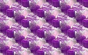 Картинка фон, праздник, текстура, свечи, Новый год
