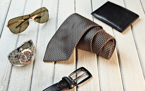 Картинка watch, belt, sunglasses, tie, wallet