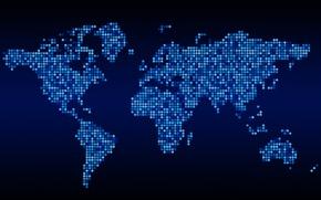 Картинка мир, карта, квадраты