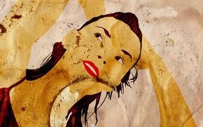 Картинка Девушки, Старая Бумага, Попарт