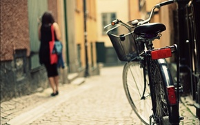 Обои велосипед, street, bicycle, bike, город, photography, woman, улица