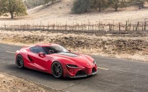 Картинка авто, Concept, красный, концепт, Toyota, красотка, тойота, FT-1
