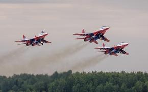 Картинка истребители, взлет, MiG-29, МиГ-29, стрижи