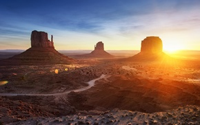 Картинка горы, пустыня, долина, landscape, panorama, arizona, monument valley