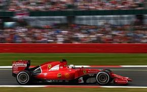 Картинка Ferrari, Formula 1, Vettel, SF15-T, Порофиль
