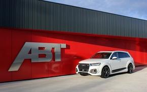 Картинка белый, Audi, ауди, ABT