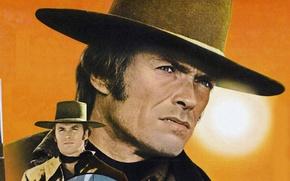 Картинка текстура, холст, вестерн, Клинт Иствуд, дикий запад, Джо Кидд