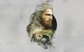 Обои Геральт, Ведьмак 3: Дикая Охота, Ведьмак, The Witcher, CD Projekt RED, Geralt, The Witcher 3: ...