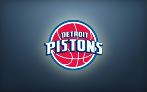Картинка Спорт, Баскетбол, Фон, Логотип, NBA, Detroit, Pistons