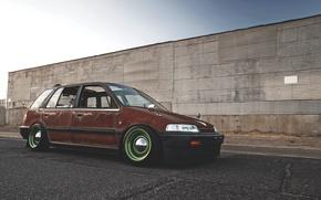 Картинка ржавчина, honda, хонда, civic, wagon, сивик, rust