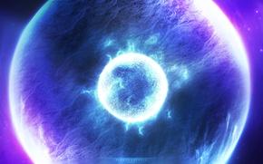 Картинка blue, power, planet, brightness, Sci fi