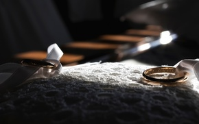 Картинка макро, кольца, свадьба