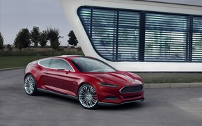 Картинка Concept, красный, Ford Evos