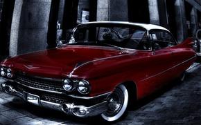 Картинка фон, Eldorado, Cadillac, HDR, классика, кадиллак, эльдорадо