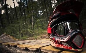Картинка макро, маут-байкинг, шлем мотоциклиста