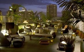 Картинка дизайн, город, стиль, интерьер, пентхаус, San Diego, терраса