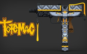Картинка тотем, раскрас, workshop, cs go, mac-10, custom pain job, totemac