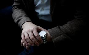 Картинка время, часы, человек, руки, пиджак