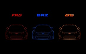 Картинка Subaru, Toyota, BRZ, GT86, FR-S, Scion