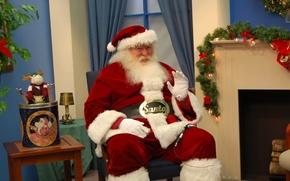 Картинка праздник, борода, Рождество, шапка, Новый год, фото, Санта Клаус, Дед Мороз