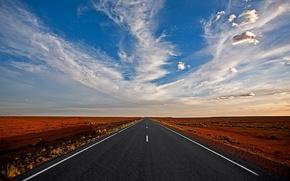 Обои road to nowhere, cloud, straight