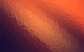 Картинка abstract, wallpaper, texture, blue, background, orange, graphic, modiac, crystallize