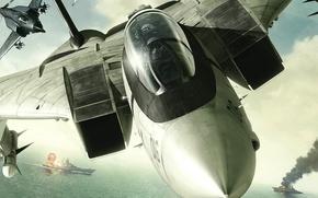 Картинка война, бой, Истребитель