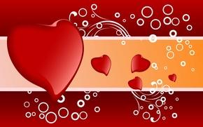 Картинка любовь, линии, узор, сердце, текстура, сердца, сердечки, кружки, сердечко
