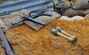 Картинка Германия, пехотные гранаты, пистолет-пулемёт, MP 38/40