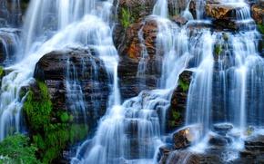 Картинка скала, водопад, Бразилия, Гояс, Chapada dos Veadeiros National Park