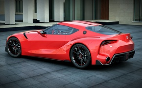 Картинка car, red, toyota, рендер, dangeruss, ft-1