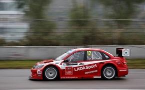 Картинка red, Lada, Лада, Granta, Гранта, WTCC, TC1, Robert Huff