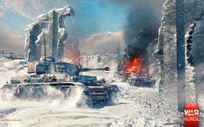 Картинка Pz.Kpfw. IV Ausf. G, War Thunder, Gaijin Entertainment, Winter Map, Medium Tank, Stalingrad Factory